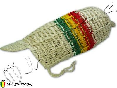 Long & Big Beanie for Dreadlocks Dread Rasta Bobo Cotton Jah Star Free Size - Hat For Dreadlocks