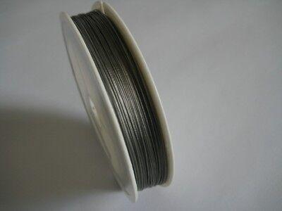 1 Rolle Schmuckdraht 0,45 mm Silberfarben #g382 nylonummantelt 50 m