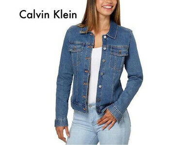 Calvin Klein Jeans Ladies' Denim Jacket, Moonlight Dusk, Sz Large.