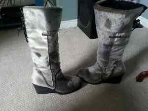 Seal Skin, Wedge-Heel boots - suitable for wide-calf St. John's Newfoundland image 3