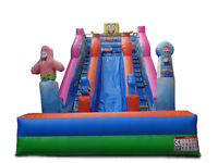 York Inflatables.Spongebob bouncy combo or slide.Giant maze to hire.Good sized castles frm £40 a day