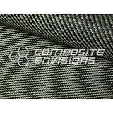 "Carvlar Carbon Fiber/Black Kevlar Fabric 2x2 Twill 50"" 3k 5.5oz"
