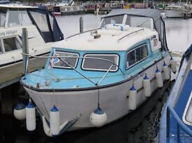 INLAND RIVER CRUISER - 1974 NAUTICUS 22FT 4 BERTH. GREAT PRICE OF £6450