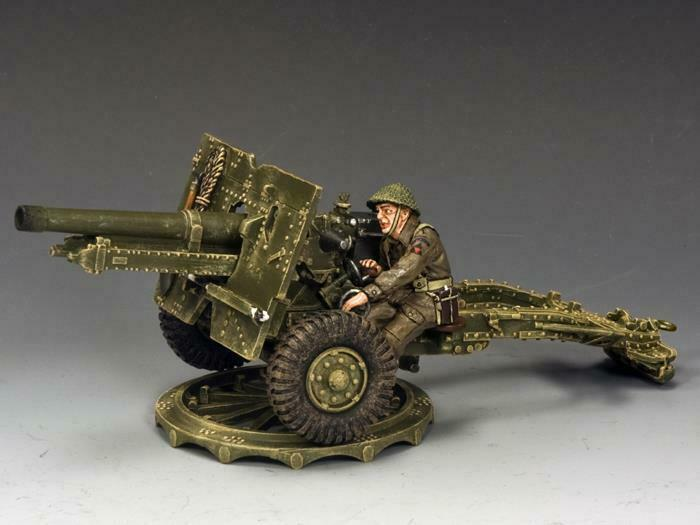 King & Country DD204 British 25 Pounder Field Gun - RETIRED - Mint in the Box