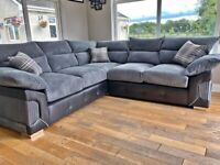 Cord & Leather Cover Up *LOGAN 5 SEATED SOFA* (3+2 SEATED SOFA) at discounted price.