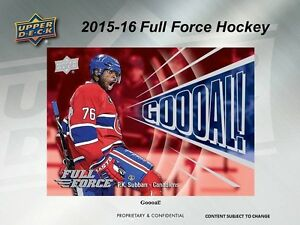 2015-16 Upper Deck Full Force Hockey Trading Cards Box Kitchener / Waterloo Kitchener Area image 5