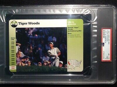 PSA  7 NEAR MINT     Tiger Woods    Grolier Card #E-15  *ROOKIE CARD*  RARE!!!