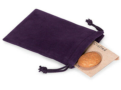50 PURPLE 3x4 Jewelry Pouches Velour Velvet Gift Bags - Purple Gifts