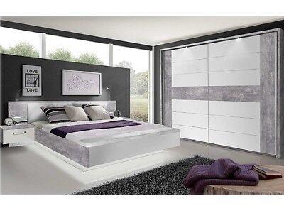 Schlafzimmer Rondino II Komplett Set Schwebetürenschrank Bettanlage 110318