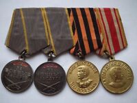 Soviet Union/ Russia World War Two Medals 4 in total 2x courage. 1 victory over Germany