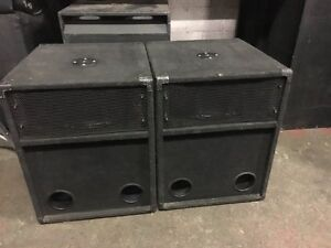 ElectroVoice 181 sub cabinets NO DRIVERS