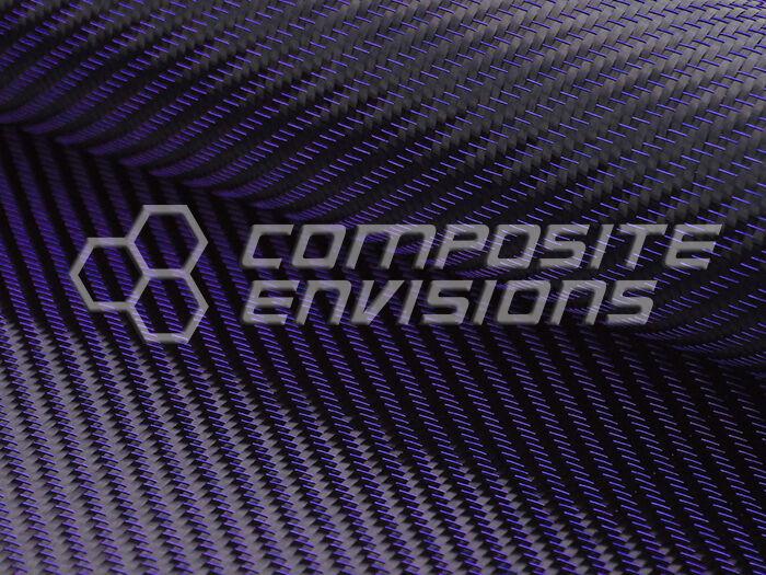 "Blue Mirage™ Carbon Fiber Cloth Fabric 2x2 Twill 50"" 3k 290gsm 8.6oz HD"