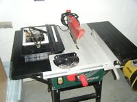 Table saw, 2 blades all fences, light diy use from new