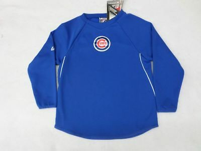 MLB Chicago Cubs Youth Royal Blue Therma Base Crew Shirt SZ -