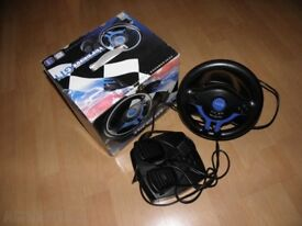 steering wheel ps2 pc logic 3 Gt1 with pedals boxed