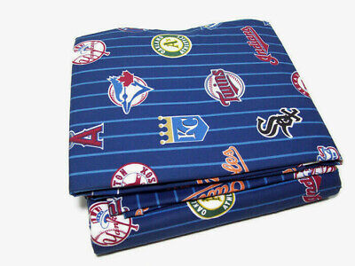 Pottery Barn Teen MLB Major League Baseball American League Queen Sheet Set New