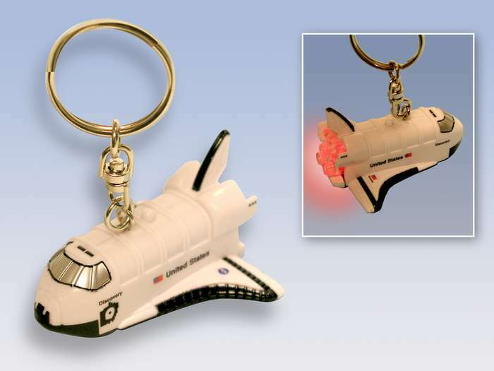 NASA Space Shuttle Discovery Keychain with lights and sound