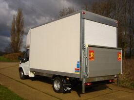 MAN&VAN LARGE LUTON VAN WITH TAIL LIFT 24/7SHORT NOTICE HOUSE OFFICE FLAT STUDENT MOVER ALL OVER UK