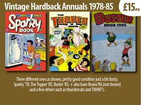 Vintage Hardback Annuals (comics, tv, celebratory) Various Types x10, see images 1970-90's.