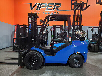 2020 Viper Fy35 8000lb Dual Drive Air Pneumatic Forklift Lpg Lift Truck Hi Lo