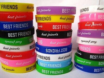 24 x Best Friends friend silicone rubber bands bracelets free post