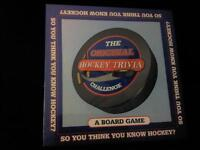 SO YOU THINK YOU KNOW HOCKEY TRIVIA BOARD GAME NEW & SEALED