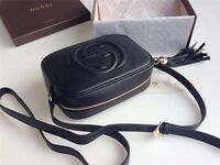 Black Leather Gucci Soho Disco Bag