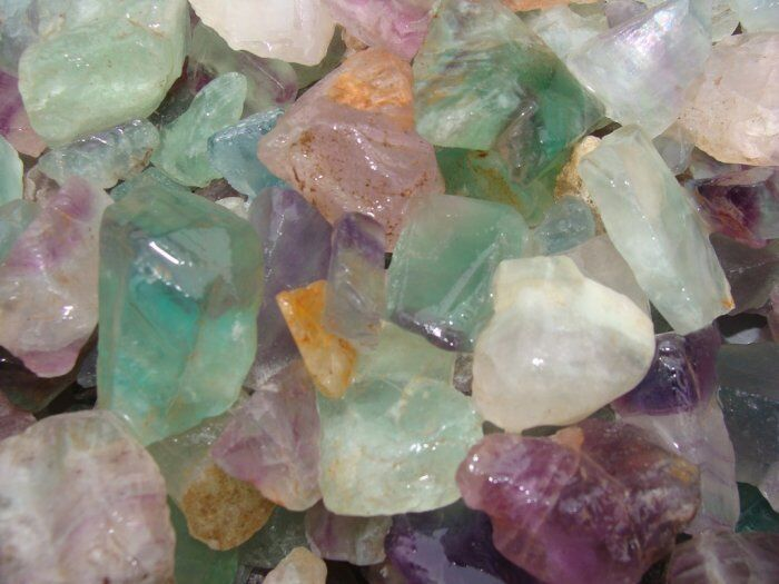 FLOURITE - Rough Rock for Tumbler / Polisher / Fluorite / Gemstone - 5 LB Lots