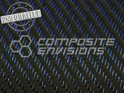 2nd Quality Blue Reflections Carbon Fiber Fabric 2x2 Twill 3k 50127cm 5.9oz