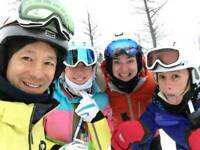 Fun Adult Ski Group Focused On Ski Lessons
