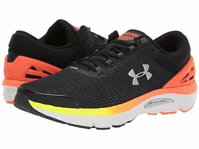 Men's Under Armour UA Charged Intake 3 Running Shoes - Black/Orange 3021229-001