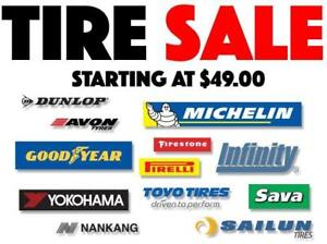NEW TIRES ON SALE 175/65/14 185/60/14 185/65/14 185/70/14 195/60/14 195/70/14 205/70/14 - FREE INSTALLATION &  BALANCING
