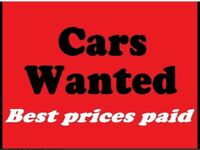 BEST PRICES PAID FOR YOUR CARS OR VANS - NORTH WEST fast payment hassle free