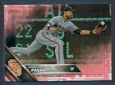 2016 Topps Mini Online Exclusive Pink Parallel Angel Pagan  299 2 5