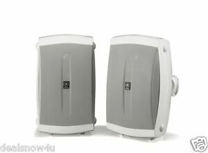 Pair of Yamaha 2 Way Indoor Outdoor Speakers White 130 Watts with Dome Tweeters