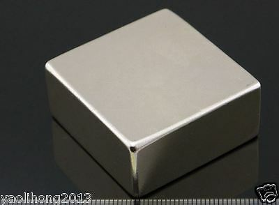 N50 Super Block Cuboid Magnets 40mm X 40mm X 20mm Rare Earth Neodymium N50