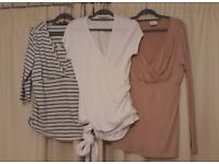 3x branded Maternity / Nursing tops size 16VGC cost £71