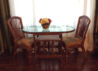 Real Bamboo Like-New Breakfast Table Set