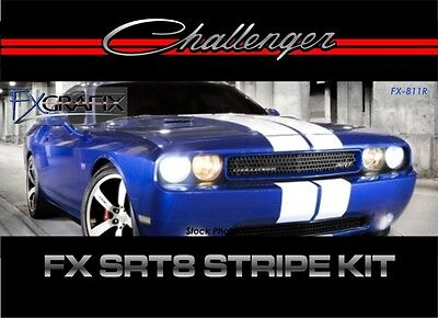 2014 Dodge Challenger Rally Racing Stripe Kit 3m Quality Stripes Srt8 Style