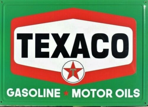NEW Texaco  Metal Sign - Gasoline & Motor Oil 12X17