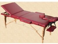 Massage table, perfect condition and foldable