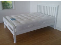 Solid,pure, White, Double, king size, Wooden Bed, Ortho, Mattress, double, single bed, Small Double,