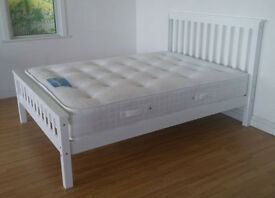 Solid, Snow White, Double, king size, Wooden Bed, Mattress, double, single bed, Small Double,