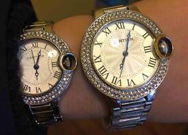 Unisex Cartier Inspired Stainless Steel Bracelet Watch in 2 sizes/styles