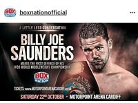 World championship boxing Cardiff arena 22nd October