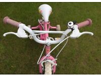 Girls Pink Princess Bike 12 inch - 3-5 years
