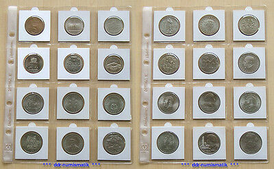 24 verschiedene (!) DDR-Gedenkmünzen 5 + 10 + 20 Mark *** 1969-1990 !