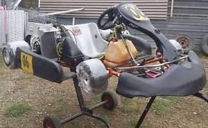 Omega TK24 Race Kart with 2 kart trailer ready to go racing Marayong Blacktown Area Preview