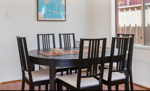 Full Dining table suite with 8 chairs and in good condition
