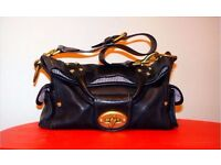 Mulberry Jody Convertible Shoulder Tote Bag in Black Leather